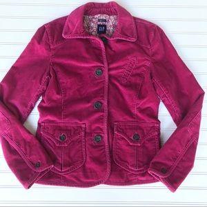 🌺Gap Stretch Spring Corduroy Pink Jacket, Size 8